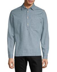Jean Shop - Slim Button-down Shirt - Lyst