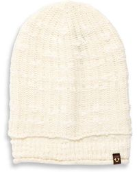 True Religion - Ribbed Cuff Hat - Lyst