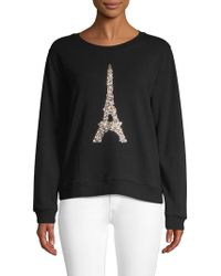 Karl Lagerfeld - Sequin Eiffel Tower Pullover - Lyst