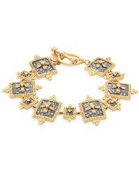 Freida Rothman - Crystal Hammered Toggle Bracelet - Lyst