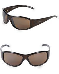 f6aef37157 Lyst - Gucci 66mm Logo Embellished Wrap Sunglasses in Brown for Men