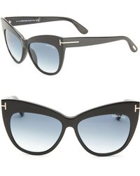 Tom Ford - Nika 56mm Cat Eye Sunglasses - Lyst