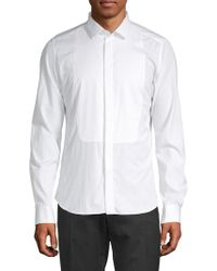 Valentino - Long-sleeve Cotton Button-down Shirt - Lyst