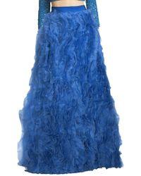 Alice + Olivia - Posey Ruffled Silk Maxi Skirt - Lyst
