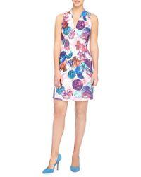 Catherine Malandrino - Tinka Graphic Floral Sheath Dress - Lyst