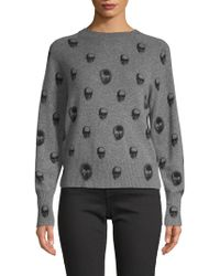 Skull Cashmere - Printed Cashmere Sweater - Lyst