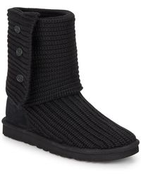 UGG - Classic Cardy (black 2) Women's Boots - Lyst