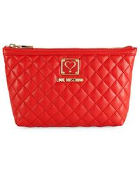 b78219c8b8 Love Moschino - Bustina Faux Leather Pouch - Lyst