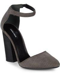 Giorgio Armani | Stitched Suede Block Heels | Lyst