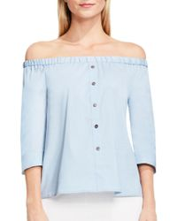 Vince Camuto - Solid Off-the-shoulder Blouse - Lyst