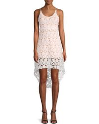 Haute Rogue - Lace Hi-lo Dress - Lyst