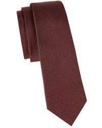 Valentino - Textured Slim Silk Tie - Lyst