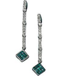Effy - Black Diamond Diversa Earrings In 14 Kt. White Gold .52ct. T.w. - Lyst