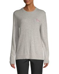 Saks Fifth Avenue - L'amour Embroidered Jumper - Lyst