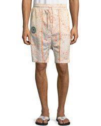 PUMA - Splatter Drawstring Shorts - Lyst