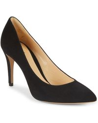 Armani - Suede Point-toe Court Shoes - Lyst