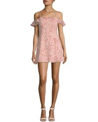 For Love & Lemons - Aurora Ruffle Mini Dress - Lyst