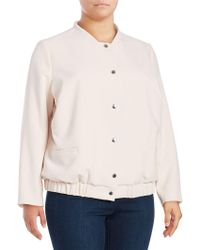 Vince Camuto - Snap Front Textured Bomber Jacket - Lyst