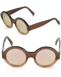 Sunday Somewhere - Bruno 50mm Round Sunglasses - Lyst