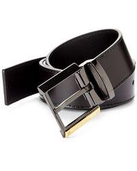 Versace - Leather Belt - Lyst