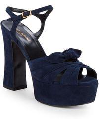 Saint Laurent - Candy Viola Leather Sandals - Lyst
