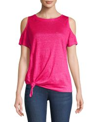 40e413ddbcaae Free People High Neck Julie Layering Top in Blue - Lyst