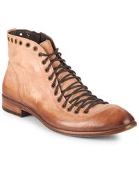 Jo Ghost - Eyelet Leather Ankle Boots - Lyst