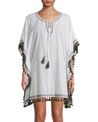 Tommy Bahama - Tassel-fringed Tunic Cover-up - Lyst