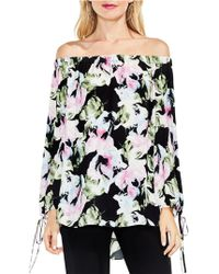 Vince Camuto - Glacier Floral Off-the-shoulder Tie-cuff Blouse - Lyst