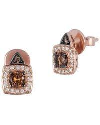 Le Vian - Chocolatier 14k Strawberry Gold, Vanilla Diamonds & Chocolate Diamonds Earrings - Lyst