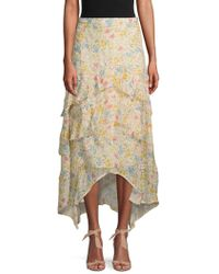 Love Sam - Floral Layered Skirt - Lyst