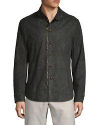 John Varvatos - Stand Collar Leather Jacket - Lyst