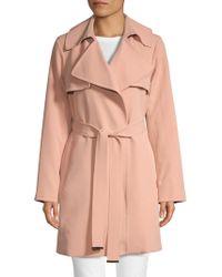 MICHAEL Michael Kors Drape Trench Coat - Pink