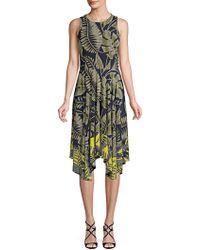 Maggy London - Jewel Neck Hanky Hem Fit-&-flare Dress - Lyst