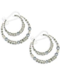 Saks Fifth Avenue - Double Hoop Earrings - Lyst