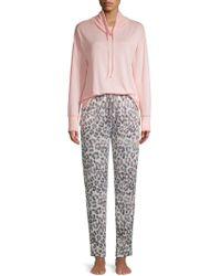 Hue - Mistytwo-piece Leopard Print Pyjama Set - Lyst