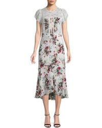 8109b4f59af8 Lyst - Alice + Olivia  imani  Geometric Floral Lace Dress in White