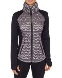 Betsey Johnson - Quilted Long-sleeve Jacket - Lyst