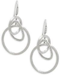 Marco Bicego - Diamonds &18k White Gold Link Drop Earrings - Lyst