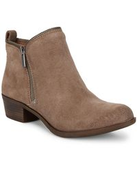 Lucky Brand - Bartalino Classic Suede Booties - Lyst