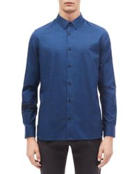 Calvin Klein - Modern-fit Contrast Glen Plaid Shirt - Lyst