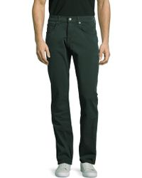 7 For All Mankind - The Straight Solid Trousers - Lyst