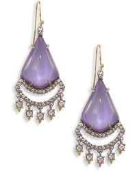 Alexis Bittar | Crystal Lace Lucite Chandelier Earrings | Lyst