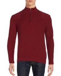 Porsche Design - Ripped Wool Blend Sweater - Lyst