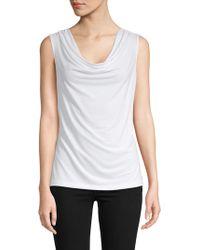 1d8d49fb5b25f Lyst - Women s Calvin Klein Sleeveless and tank tops On Sale