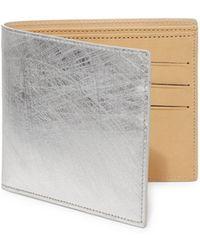 Maison Margiela - Scratched Metallic Leather Bifold Wallet - Lyst