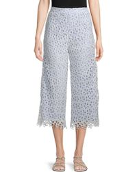 English Factory - Lace Cropped Pants - Lyst