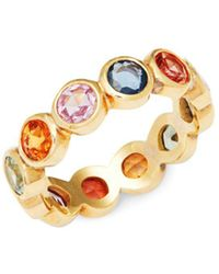 Temple St. Clair - Mixed Sapphires & 18k Gold Eternity Ring - Lyst