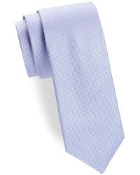 Saks Fifth Avenue - Two-tone Diamond Silk Tie - Lyst