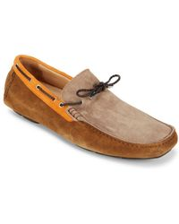 Bugatchi - Suede Slip-on Driver Shoes - Lyst
